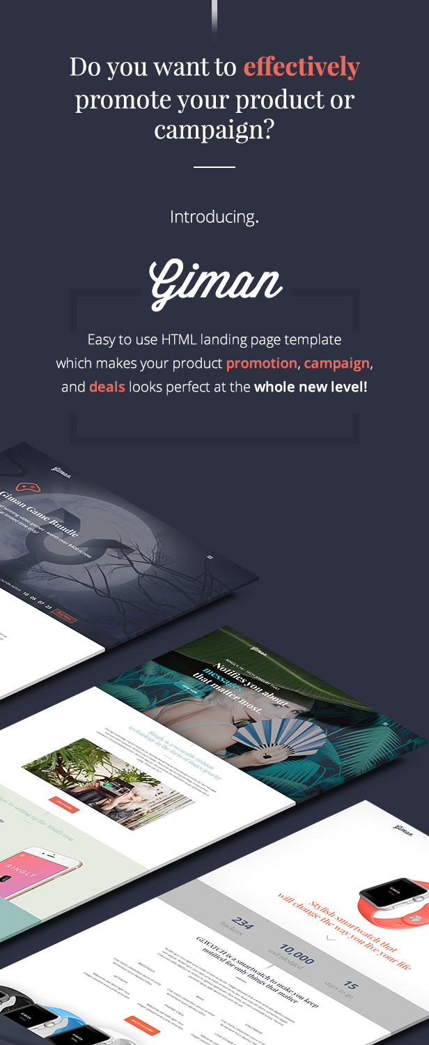 html product page template free - giman product and deals landing page template landing