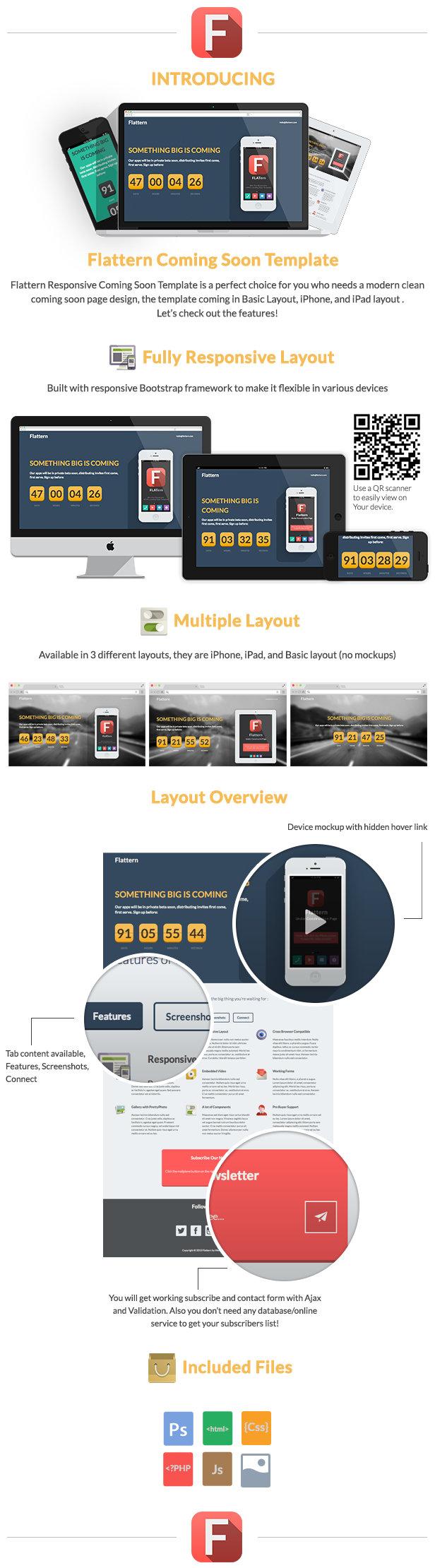 Flattern - Responsive Coming Soon Template