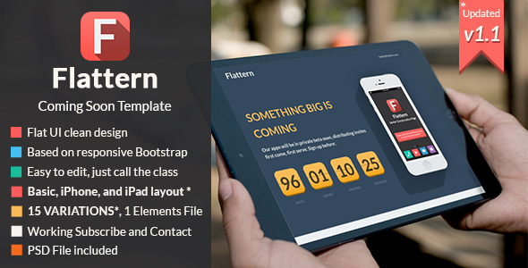 Katemi - Clean Product and App Landing Page